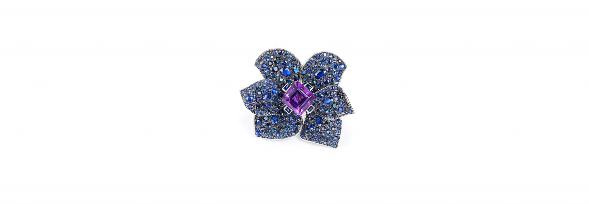 Blaues Meer Blume